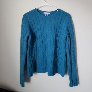 GAP BLUE CABLE KNITE SWEATER